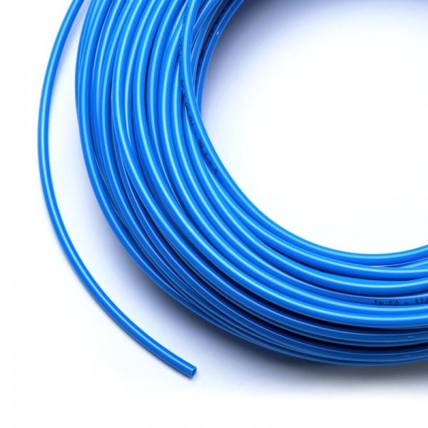 Vysokotlaká hadička 4/6 mm pro RO nebo na CO2 (metráž) modrá