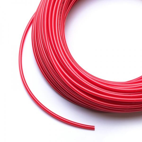 Vysokotlaká hadička 4/6 mm pro RO nebo na CO2 (metráž) červená