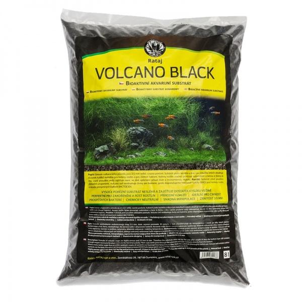 Rataj Volcano black akvarijní substrát 8l