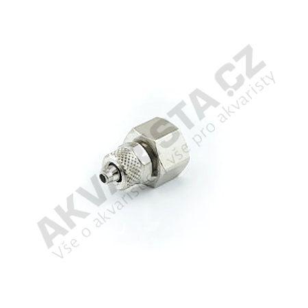 Camozzi Kovová spojka se vnitřním šroubením 1/8 a výstupem na hadičku 4/6 mm