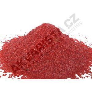 Písek akvarijní 1 - 2 mm - červený, 25kg