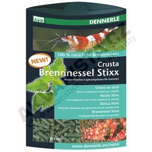 Dennerle Crusta Brennnessel Stixx 30g - krmivo z kopřiv pro krevetky