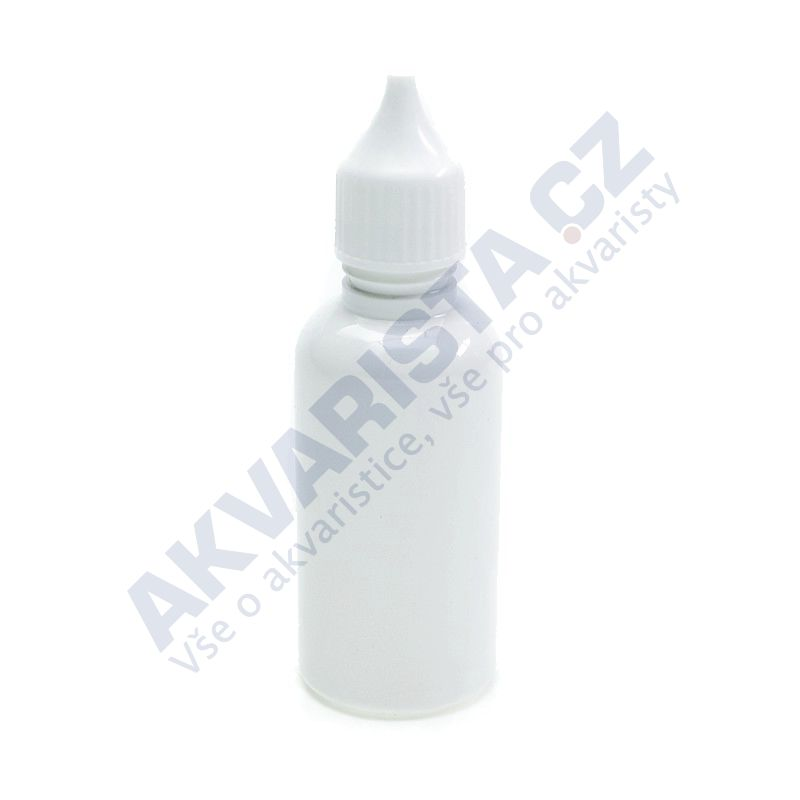 Plastová lahvička s kapátkem 50 ml - bílá