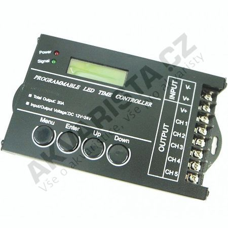 Programovatelný controller 5CH pro LED osvětlení
