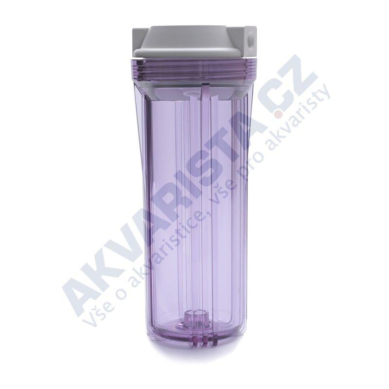 Korpus filtru 10 průhledný s 1/4 šroubením a jedním těsněním