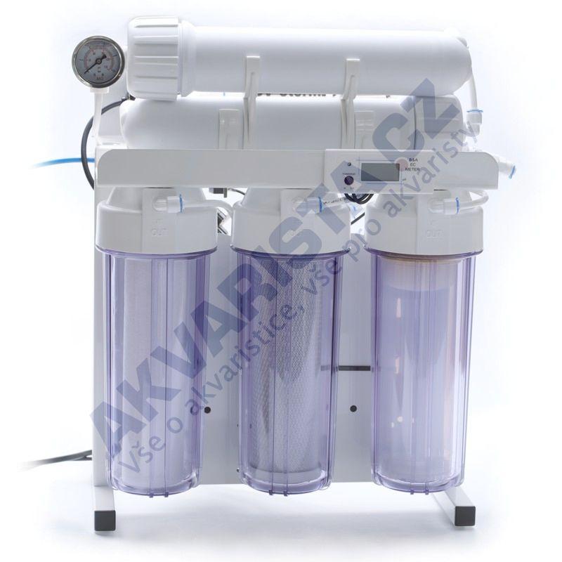 Reverzní osmoza PROFI čtyřstupňová dvojitá 2x100 DI STOJAN +M +EC +PUMP +STOP +UV sterilizátor