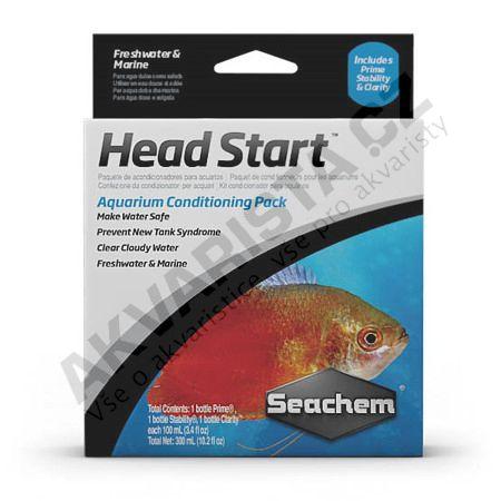 Seachem Head Start set přípravků pro start akvária (Prime, Stability, Clarity)